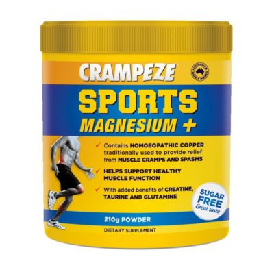 Powder to relieve sports cramps